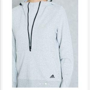 Adidas Herringbone Grey Sweatshirt Hoodie Size XL